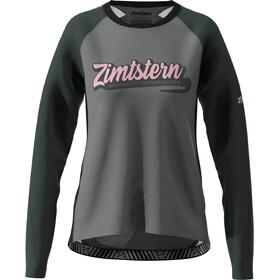 Zimtstern ProTechZonez Camiseta Manga Larga Mujer, glacier grey/pirate black
